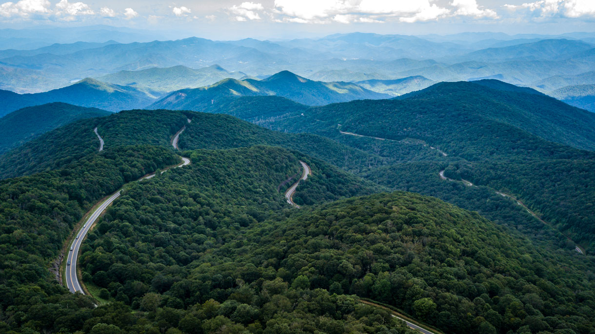 cherohala-skyway-drone